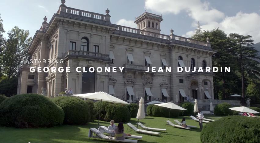 Spot a Villa Erba di George Clooney e Jean Dujardin