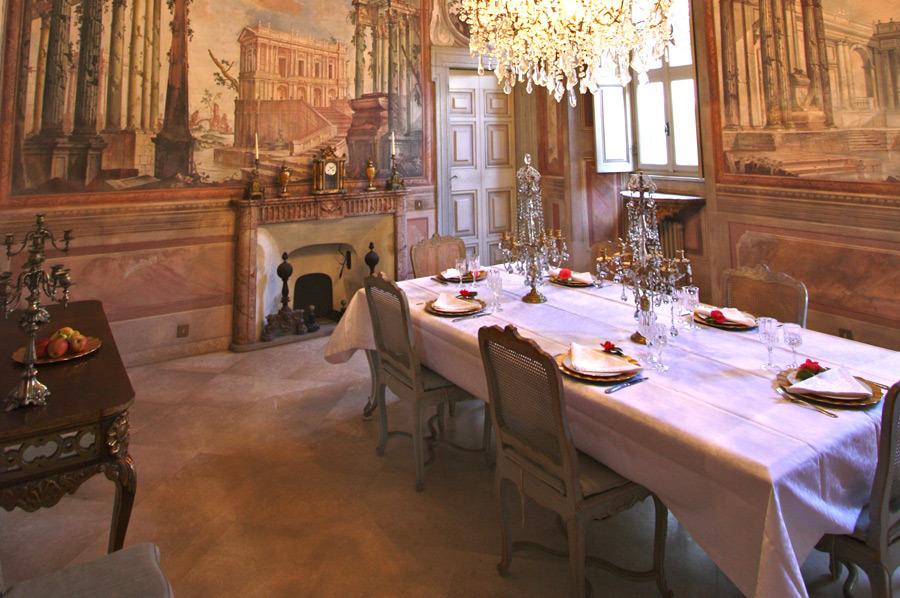 Gli interni di Villa Balbiano