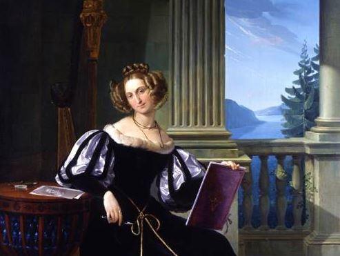 Rosa Trivulzio nella Villa di Bellagio