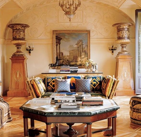 Gli interni di villa fontanelle lake como ville for Interni ville