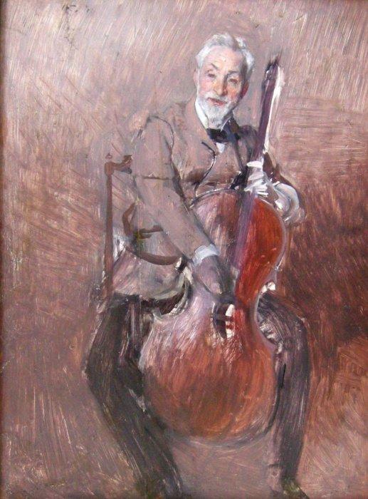 Boldini - Ritratto del violoncellista Braga
